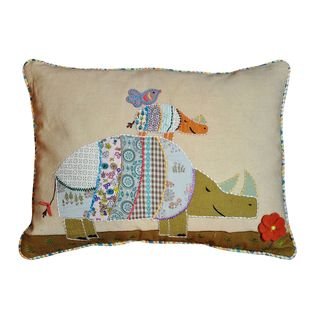 Cottage Home Rhino Decorative Pillow