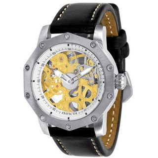 Invicta Signature Mens Black Strap Mechanical Watch