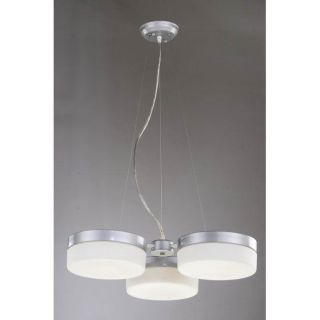 Otis Designs Casa 3 light Silver Chandelier