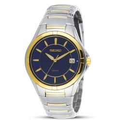 Seiko Mens SGED98 Two tone Stainless Steel Blue Dial Dress Watch
