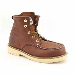 Georgia Youth Boys Moc Toe Brown Boot (Size 9)