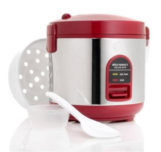 Wolfgang Puck Red 5 cup Heavy duty Rice Cooker with Accessories