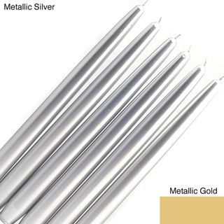 Metallic 12 Inch Taper Candles (Case of 144)