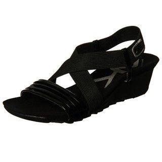 AK Anne Klein Sport Womens Spritzer Elastic Wedge Sandal