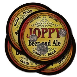 Joppy Family Name Brand Beer & Ale Drink Coasters   Set of