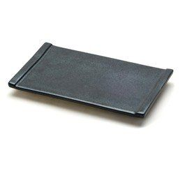 New Black Sushi Geta Plate 10 1/4 x 6 1/4 Made In Japan