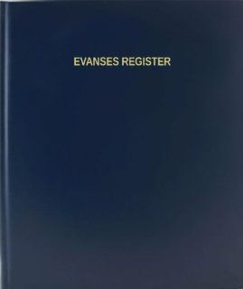 BookFactory® Evanses Register   120 Page, 8.5x11, Blue