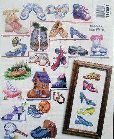 50 Shoes Cross Stitch (American School Needlecraft #3699): Terrece