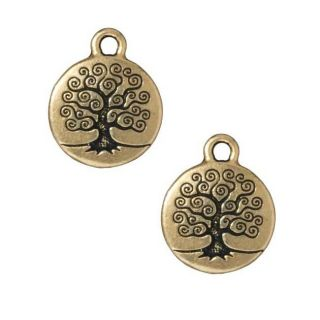 Beadaholique Goldplated Pewter Tree Of Life Charms (Set of 2) Today $