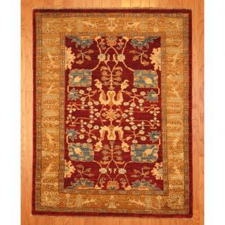 Afghan Hand knotted Vegetable Dye Rust/ Gold Wool Rug (42 x 56