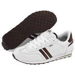 DVS Shoe Company Volari White/Brown Leather Athletic