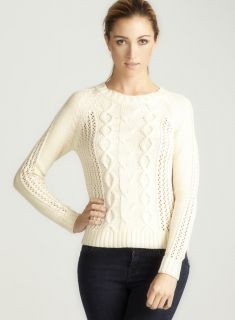 Vivienne Tam Long Sleeved Cableknit Sweater A
