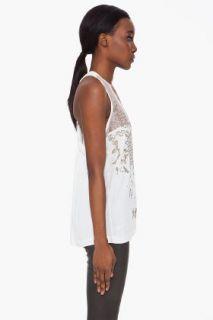 Barbara Bui Silk Sequin Tank Top for women