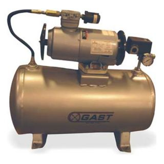 Gast 2LAF 246T M200EX Piston Air Compressor, 1/4 HP, 1.5 CFM