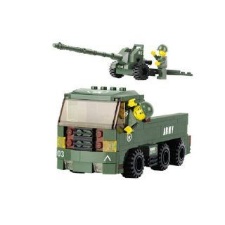 Star Diamond Block set Howitzer & Tractor   221 Pcs: Toys & Games
