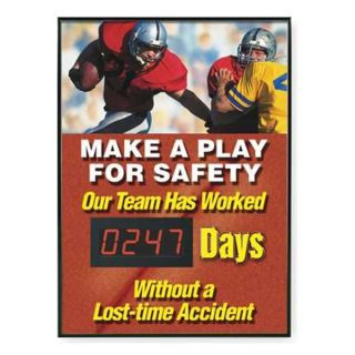 Accuform Signs SCD247 Safety Scoreboard, 28 x 20In, ENG