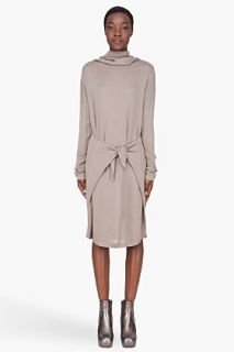 Silent By Damir Doma Taupe Knotted Turtleneck Dress for women