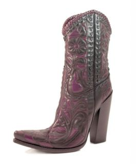 Versace Womens Black Cowboy Boots