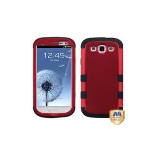 MYBAT Titanium Red/ Black TUFF Hybrid Cover for Samsung© Galaxy S3