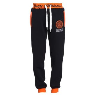 GANGSTER UNIT Pantalon de Jogging Homme Marine et orange   Achat