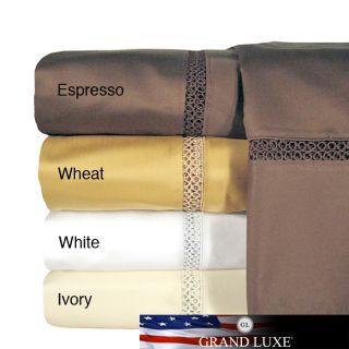 Grand Luxe Egyptian Cotton Payton 800 tc Deep Pocket Sheet and