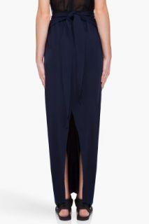 Damir Doma Midnight Blue Front Wrap Skirt for women