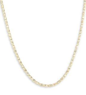 14k Tri Color Gold Valentino Chain Link Necklace 2mm