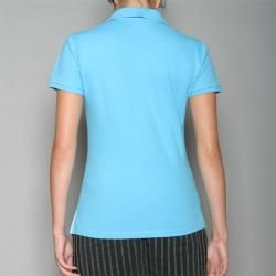 Golftini Womens Turquoise Zipper Neck Golf Shirt