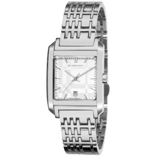 Burberry Womens Nova Check Stainless Steel Square Watch