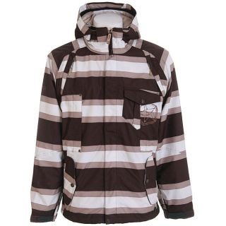 Sessions Mens Large Fire Fly Java Stripe Snowboard Jacket