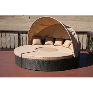 Dunedin 4 piece All weather Resin Wicker Patio Day Bed