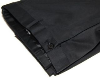 Polo Ralph Lauren Black Label Men Dress Slacks Black Flat