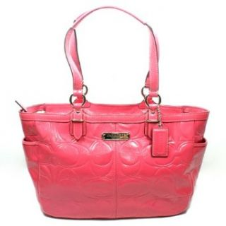 Coach Gallery Embossed Patent Leather Tote Bag Rose (pink