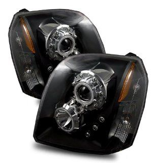 2007 2010 GMC Yukon CCFL Twin Angel Eyes Halo Projector Headlights