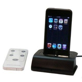 Docking Station Cradle with Remote Control for Apple IPOD