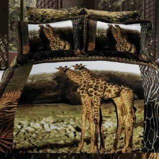 Arya Giraffe   Duvet Cover Bed in Bag   Full / Queen