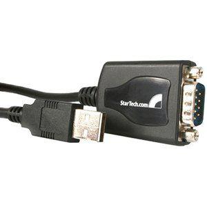 232 SERIAL ADAPTER USB. Type A Female USB, DB 9 Male Serial   Black