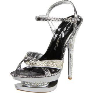 Celeste Womens Rosie 02 Silver Stiletto Sandals