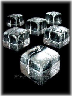Hand Blown Glass Ice Cubes or Whiskey Stones Home