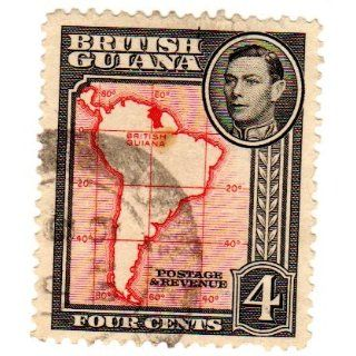 Map of South America Stamp Dated 1952, Scott #232.
