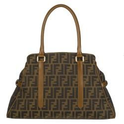 Fendi Small New Bag de Jour Zucca Canvas Tote Bag