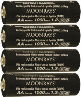 Moonrays 97142 4 Pack AA NiMh Pre Charged Rechargeable Batteries for