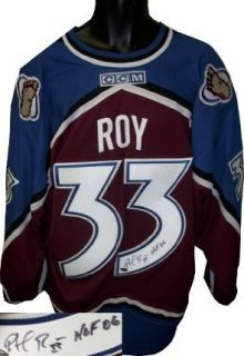 Autographed Patrick Roy Uniform   Maroon CCM HOF06 Sports