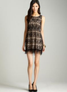 Soprano Sleeveless lace aline dress