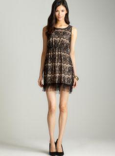 Soprano Sleeveless lace aline dress