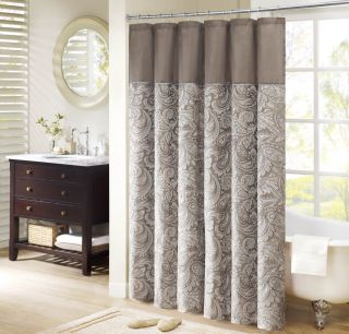 Madison Park Whitman Jacquard Faux Silk Shower Curtain Today: $28.99 4