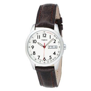 Timex Mens T2N228 Elevated Classics Dress Brown Leather Strap Watch
