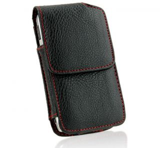 Premium iPhone 4 and iPhone 4G Leather Vertical Case with Screen