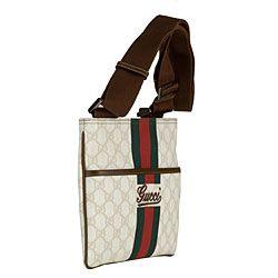 Gucci Small PVC Logo Crossbody Messenger Bag