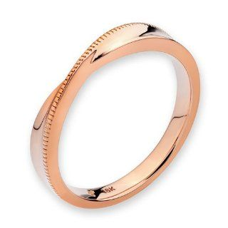 18K Rose Gold Milgrain Infinity Men Wedding Band Jewelry